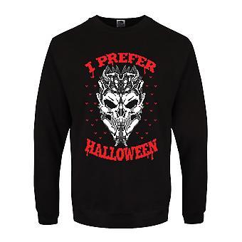 Grindstore Hombres I Prefer Prefiero Halloween Christmas Jumper