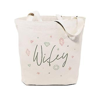 Gemstone Wifey-bomull Canvas Tote Bag