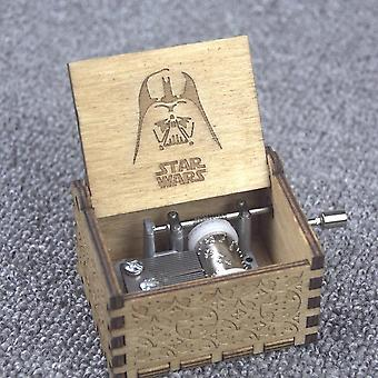 Star Wars Theme Handmade Engraved Wooden Music Box Crafts Cosplay