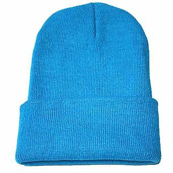 Talvi neulottu aikuinen rento hip hop hattu naiset miehet akryyli beanie unisex kiinteä