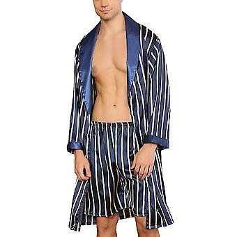 Pyjamas casual en satin de soie Ensemble Sleepwear