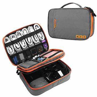Travel Cable Storage Multi-function Digital Storage Bag /pouch Double Layer