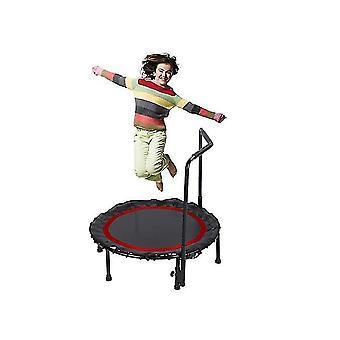 Pliabil Mini Trambulină, trambulină de fitness cu balustradă reglabilă și pad de siguranță
