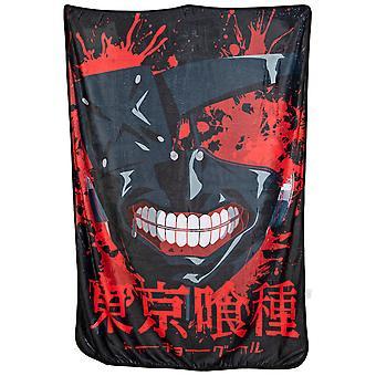Tokyo Ghoul Mask Fleece Throw Blanket