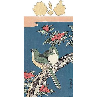 Two Birds On Hibiscus Jigsaw Puzzle #6742