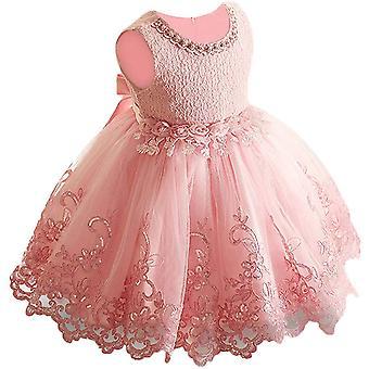 Baby Meisje Formele Doop Prinses Jurk 1129-bean Roze
