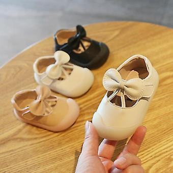 Baby 1-3 Years Old Soft Bottom First Walkers Solid Color Princess Casual Shoes