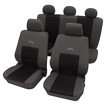 Seggiolino auto copre pacchetto Active Sports grigio e nero, lavabile a 30 gradi, Airbag compatibile