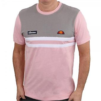 Ellesse Venire 8507 Kontrast Panel Print T-shirt - Light Pink