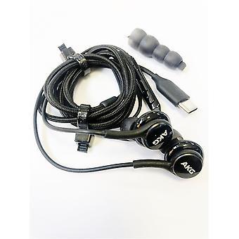 سامسونج غالاكسي الرسمية S21 / +/ Ultra AKG USB-C سماعات الرأس - أسود - GH59-15198A