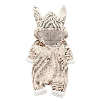 Детские Одежда Новорожденный Младенец Мультфильм с капюшоном Ухо Ромпер Jumpsuit
