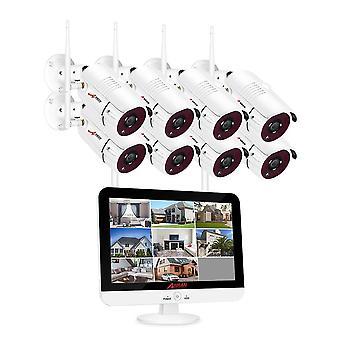 Video monitoring Kit 1080p Wifi Cctv kamerový systém Nočné videnie App