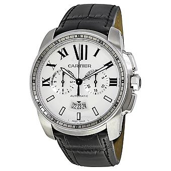 Cartier Calibre de Cartier Automatic Silver Dial Men's Watch W7100046