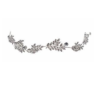 Svadobná čelenka list perličkový krištáľ čelenka, svadobné vlasové doplnky, čelenka
