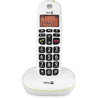 Gerui PhoneEasy 100W DECT Cordless Phone with Amplified Sound and Big Buttons (Single Set/White) [UK