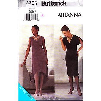 Butterick نمط الخياطة 3303 يخطئ متماسكة فساتين الحجم 12-16 Uncut
