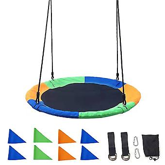 100cm Nest Tree Swing Adjustable Rope Backyard Playground Outdoor Play Toy for Kids