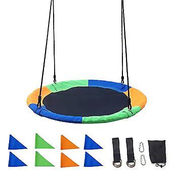 100cm巣の木スイング調節可能なロープ裏庭の遊び場屋外遊び子供のためのおもちゃ