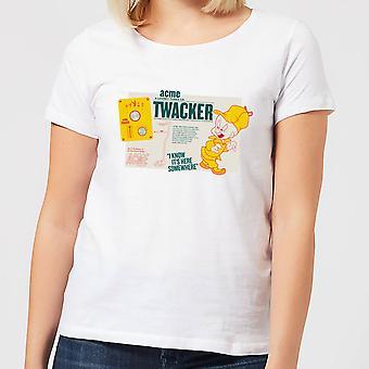 Looney Tunes ACME Twacker Merch Womens Short Sleeve T-Shirt Tee Top - White