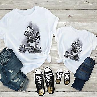 Naisten T-paita, Ajanviete Valkoinen Lyhythihaiset Vauvan puserot