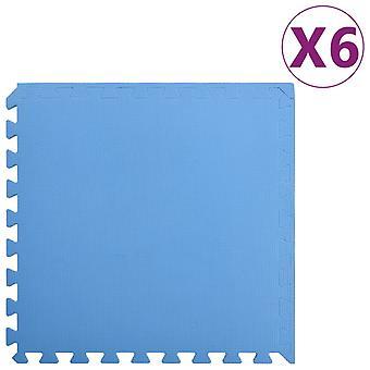 vidaXL Floor mats 6 pcs. 2.16 m2 EVA foam Blue