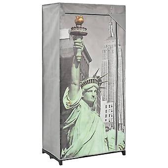 vidaXL Vaatekaappi 75×45×160 cm New York Kangas