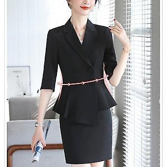 professionele vrouwen broek pak set, lente en zomer blazer slanke rok