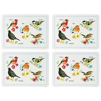 English Tableware Co. Garden Birds Set of 4 Placemats