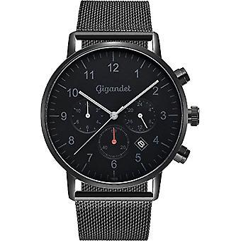 Gigandet Minimalism Mens Watch Watch Dual Time Watch analógico con brazalete milanaise G21-007 de acero inoxidable