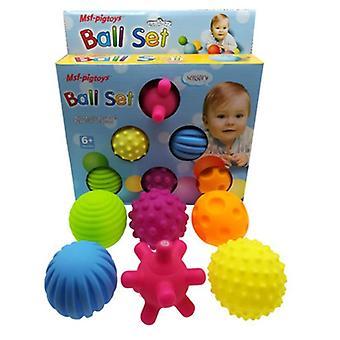 6 Peça de bolas de brinquedo para massagem e desenvolvimento de sentidos táteis