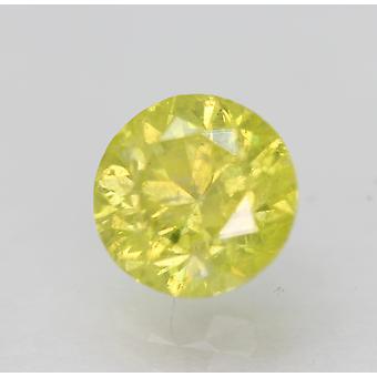 Cert 0.97 Karat Canary Keltainen SI2 Pyöreä Brilliant Parannettu Luonnollinen Timantti 6.16m