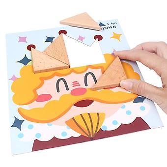 Puinen chunky palapeli lajittelu ja pinoaminen pelit Montessori koulutus lelut | Palapelit