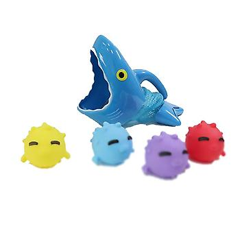 Shark Fishing Children's Bath Toy, Sound Soft Toy, With 4 Small Fishes