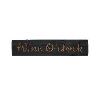 Hill Interiors Wine O Clock Wooden Plaque