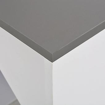 vidaXL bartafel met kast Wit 115 x 59 x 200 cm