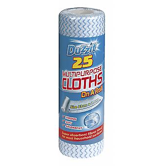 Duzzit Multi Purpose Cloths Pack 25 On A Roll