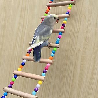 Aves pets Papagaios Escadas Subindo Brinquedo Pendurado Bolas Coloridas Com Brinquedos de Papagaio de Madeira Natural para