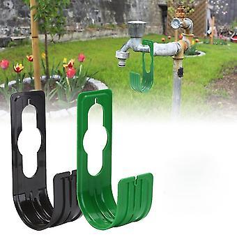 Tuyau d'arrosage Crochet de tuyau de voiture Support de tuyau mural Support de tuyau en plastique sans rouille pour jardin
