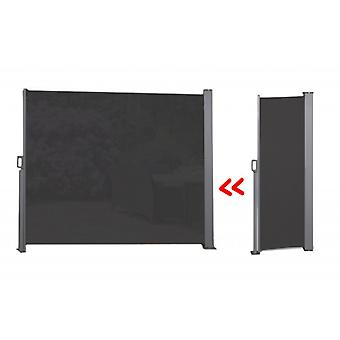 909 OUTDOOR Extendable side awning for terrace, balcony and garden, polyester windscreen with PU coating, sun protection, privacy screen with floor mount