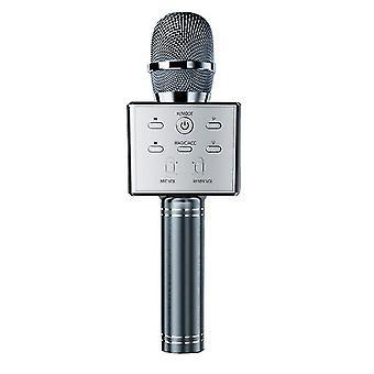 Children's Wireless Bluetooth Karaoke Microphone, Home Microphone(Sliver)