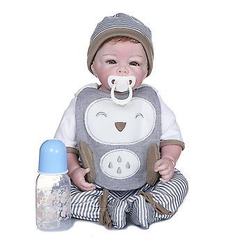 50Cm wiedergeborene Silikon Baby handgefertigt detaillierte Malerei Sammlerstücke Kunst Puppe weicher Körper