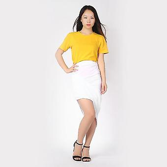 Slim Fit Draped Asymmetrische hohe Taille Stretch Bodycon Low Mini Maxi Röcke
