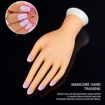 Practice Left Hand Model For Nail Art Training And Display Manicure Supply