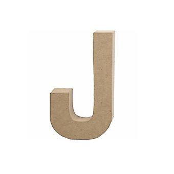 20.5cm Papel Grande Mache Carta J Maquinista Formas