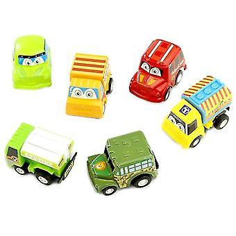Push pedal riding vehicles pull back car racing car baby mini cartoon pull back bus truck