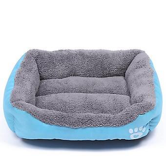 (Sky-Blue-173 / XXXLSky-Blue-173 / XXXL) Warm Cozy Dog House, Soft Fleece Nest, Baskets, Ma, Autumn