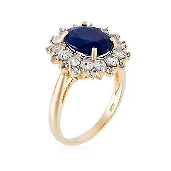 Ring 'Sun Blue' Geel Goud