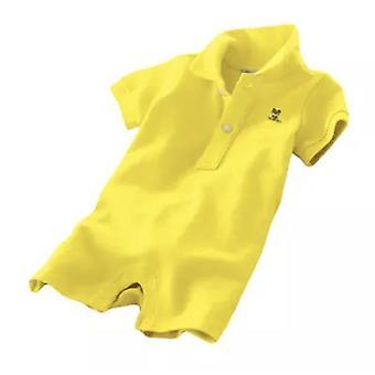 新生児の男の子の赤ちゃん紳士ポロロンパースの服