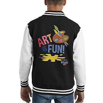 Blippi Art Is Fun Kid's Varsity Jacket
