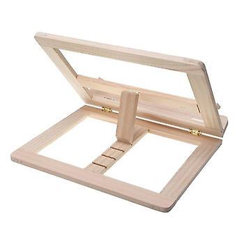 עץ מתקפל Bookends לעמוד מחזיק ספר בישול קריאה ארון תקשורת עץ קריאה ספר תמיכה לעמוד